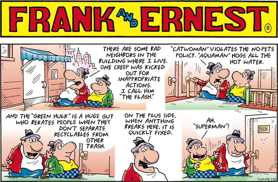 Frank and Ernest Comic Strip for January 10, 2021