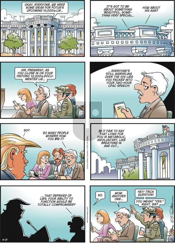 Doonesbury on Sunday April 21, 2019 Comic Strip