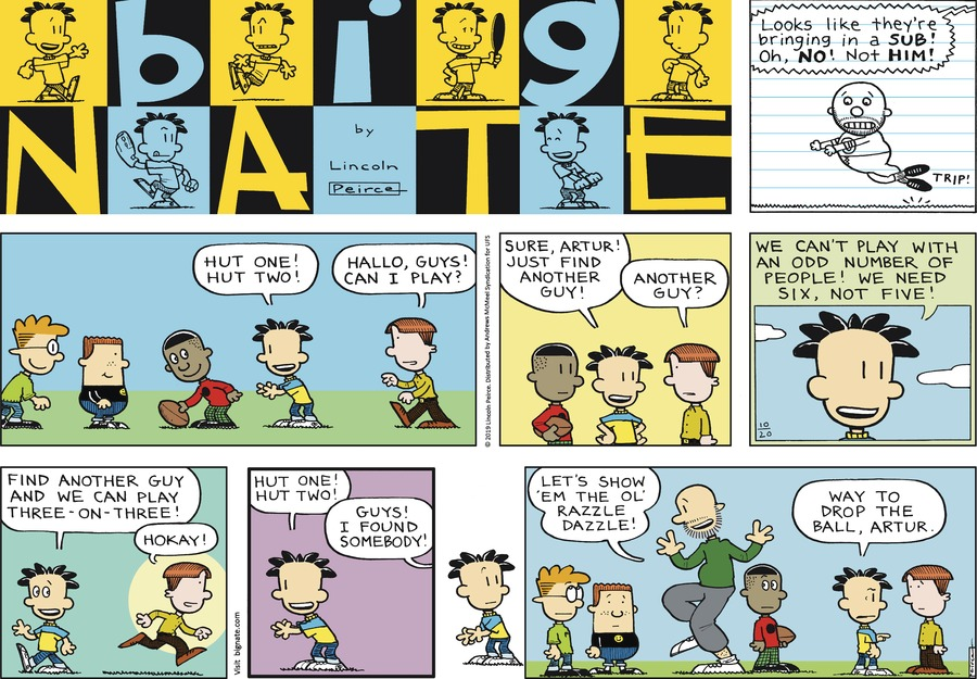 Big Nate Comic Strip for October 20, 2019