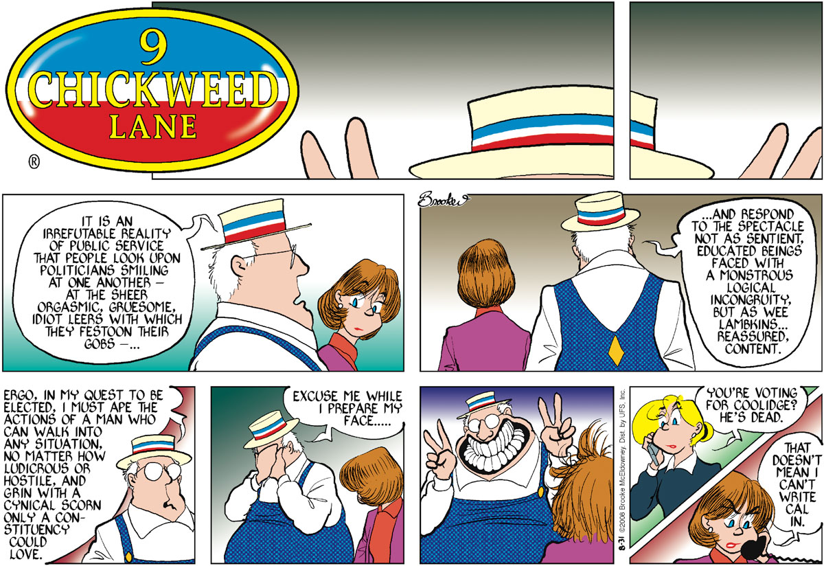 9 Chickweed Lane Comic Strip for August 31, 2008