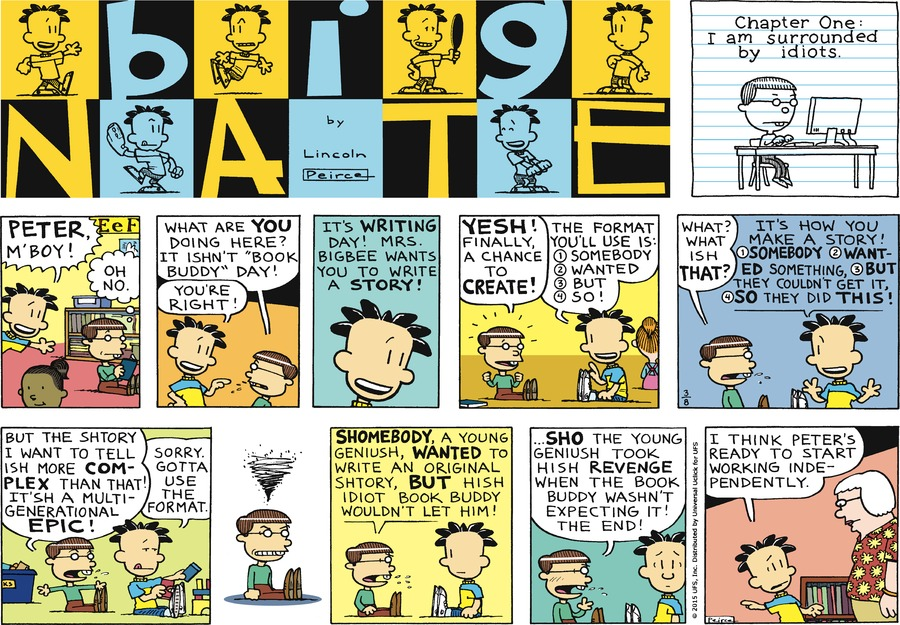 Big Nate Comic Strip for March 08, 2015