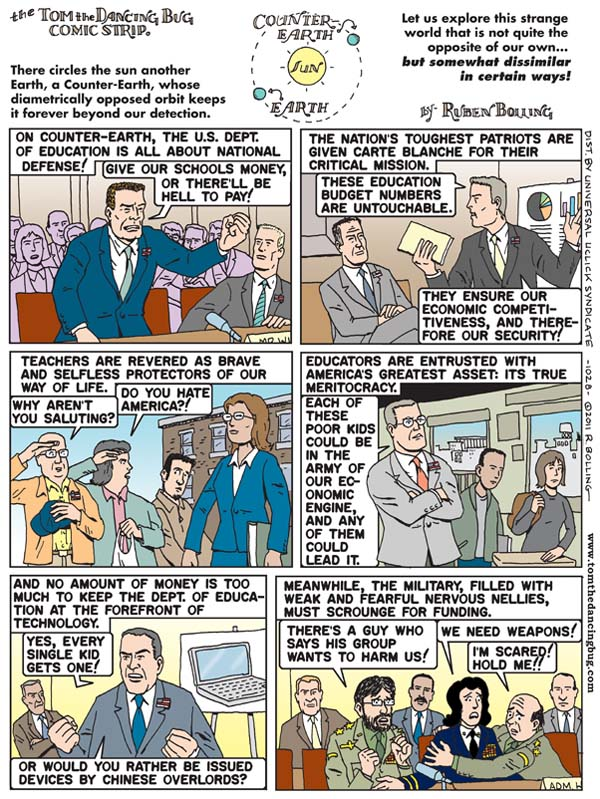 Tom the Dancing Bug Comic Strip for March 11, 2011