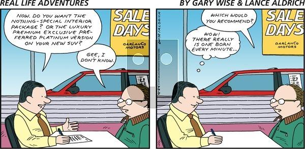 Real Life Adventures on Sunday April 24, 2016 Comic Strip